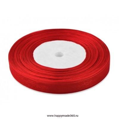 Лента органза ш.1,2 см красный