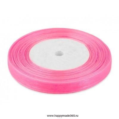 Лента органза ш.1,2 см розовый