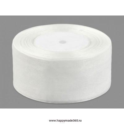 Лента органза ш. 5 см белый