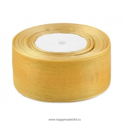 Лента органза ш. 5 см золотистый