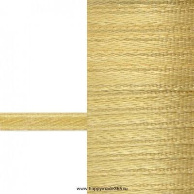 Лента атласная 3 мм (золотой)
