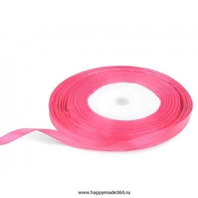 Лента атласная 6 мм (ярко-розовый)