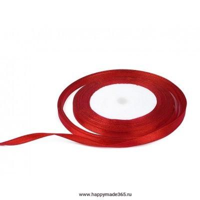 Лента атласная 6 мм (красный)