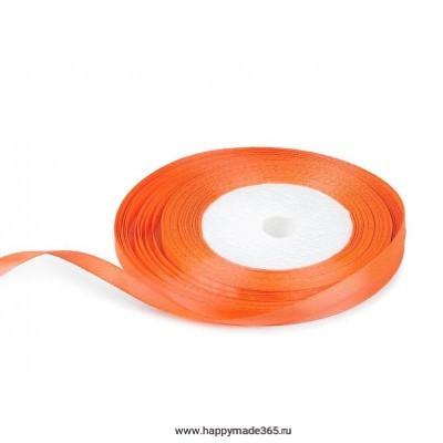 Лента атласная 6 мм (оранжевый)