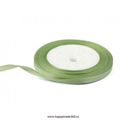 Лента атласная 6 мм (светло-зеленый)