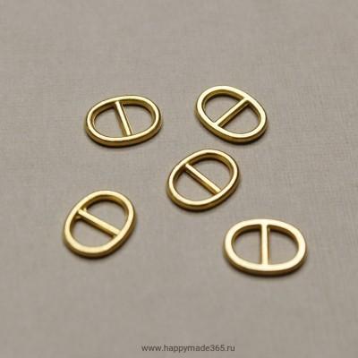 Пряжка, овал (золото), 10х8 мм