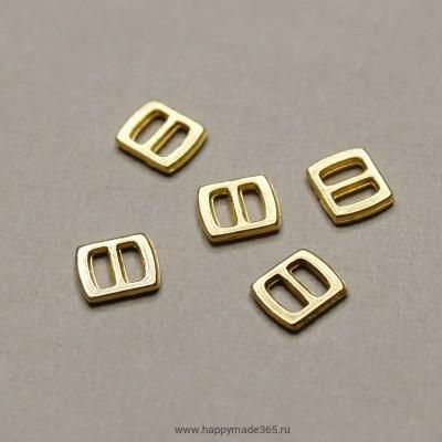 Пряжка, прямоугольная (золото), 6х5 мм