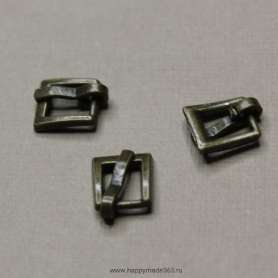Пряжка для ремня прямоугольная (бронза), 7х7 мм