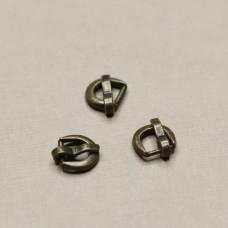 Пряжка для ремня круглая (бронза), 6х7 мм